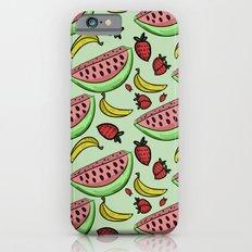 Fruit Pattern - Watermelon, Strawberry, Banana Slim Case iPhone 6s