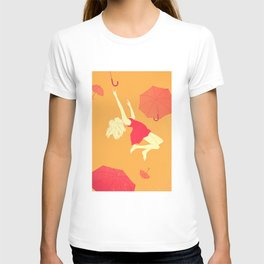 Flying umbrellas T-shirt