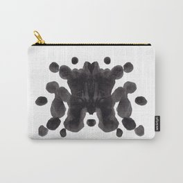 Black And White Inkblot Pattern Rorschach Test Carry-All Pouch