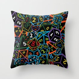 D&D (Dungeons and Dragons) - This is how I roll! Throw Pillow