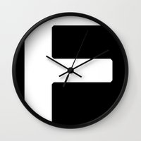 parks and rec Wall Clocks featuring Files Rec F by Files Rec