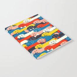 COLORED DOGS PATTERN 2 Notebook