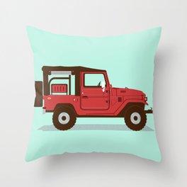 Toyota Landcruiser FJ40 Soft Top Throw Pillow