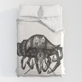 Steampunk angry crab Duvet Cover