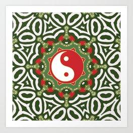Holiday Festive Balance Yin Yang Art Print