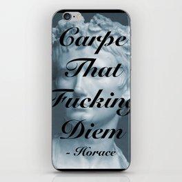 """Carpe That Fucking Diem"" - Horace iPhone Skin"