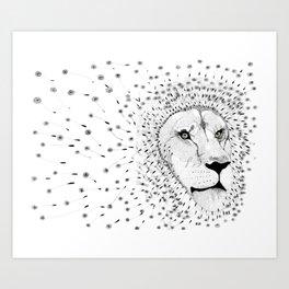 Lion Flower Art Print