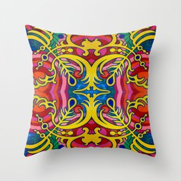 Johnny Thrombosis Multiplied Throw Pillow