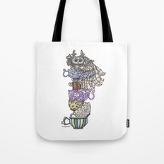Owlice Wants Another Cup of Tea Tote Bag