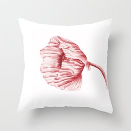 the neighbour's poppy - red Throw Pillow