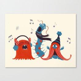 Three Monsters Singing Canvas Print