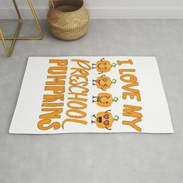 Funny Halloween preschool design - little pumpkins Rug