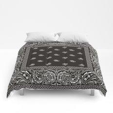 Paisley - Bandana - Black -  Southwestern Comforters