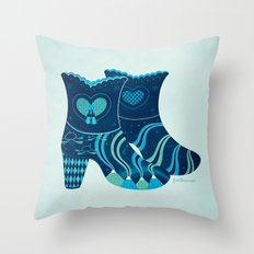 These boots are made for walking Throw Pillow