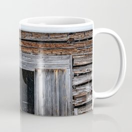 Winter Storage for a fishing boat near the barn in Hibernation Coffee Mug