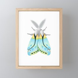Blue Moth Framed Mini Art Print