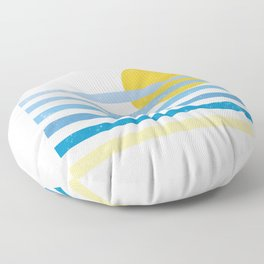 Sunset Ocean Floor Pillow