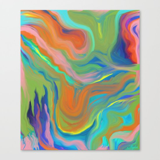 AGATE INTERPRETED:  HOT WAVES SUMMER BREEZE OIL PAINTING Canvas Print