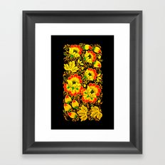 Flower Design Framed Art Print