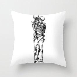 Kissing Skeleton Throw Pillow