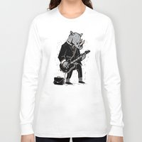 rhino Long Sleeve T-shirts featuring Rhino by Ronan Lynam