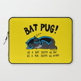 Black Bat Pug! Laptop Sleeve