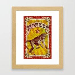 Silly, Silly Monkey Framed Art Print
