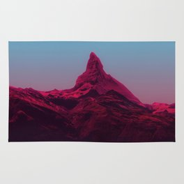 Pink mountains Rug