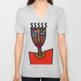 African Beauties  Unisex V-Neck