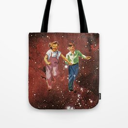 We spent most of our childhood lost in space. Tote Bag