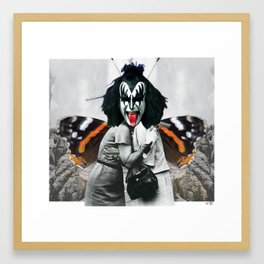 The last Kiss Collage Framed Art Print