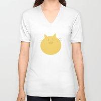 shingeki no kyojin V-neck T-shirts featuring Armin Blanket (Shingeki! Kyojin Chuugakkou) by kaposiopesis