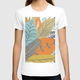 Bright Tropical Leaf Retro Mid Century Modern T-shirt