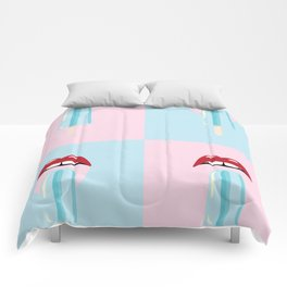 Tongues out Ice Cream Comforters