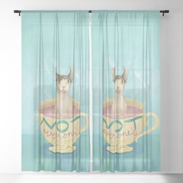 Not Everyone's Cup Of Tea - Sphynx Cat - Part 5 Sheer Curtain