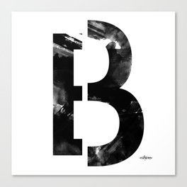 Black and White Abstract Geometric B13 Canvas Print