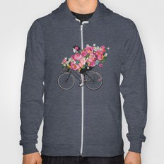 floral bicycle  Hoody
