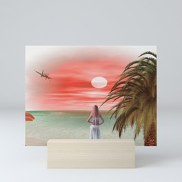 Dreams at sunset Mini Art Print
