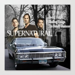 Supernatural the Winchester Boys Canvas Print