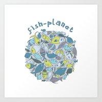 fish-planet Art Print