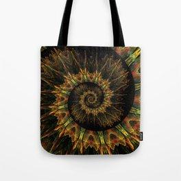 Spiral Organic Orange Tote Bag