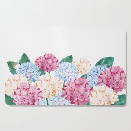 Hydrangea Art Cutting Board