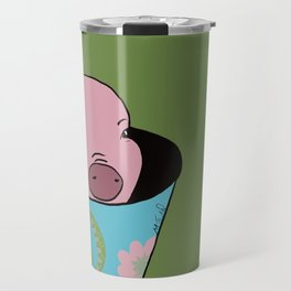 Chris P Bacon Piglet In A Bucket Travel Mug