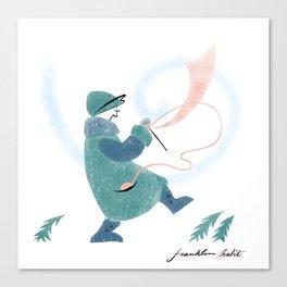 Winter Knitter Canvas Print
