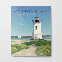 Martha's Vineyard Edgartown Lighthouse Metal Print