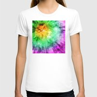 tie dye T-shirts featuring Colorful Tie Dye Design by Phil Perkins