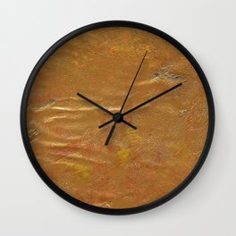 Golden Spring Acrylic Pattern Wall Clock