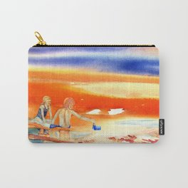 Children At Sunset Carry-All Pouch