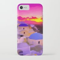 greece iPhone & iPod Cases featuring Greece  by Xchange Art Studio