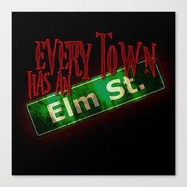 Every Town Elm Street Canvas Print